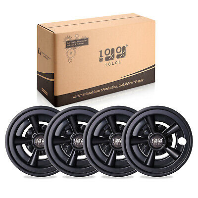 "Set of 4 Golf Cart Black 8"" SS Wheel Covers Hub Caps for YAMAHA/Club CAR/EZ-GO"
