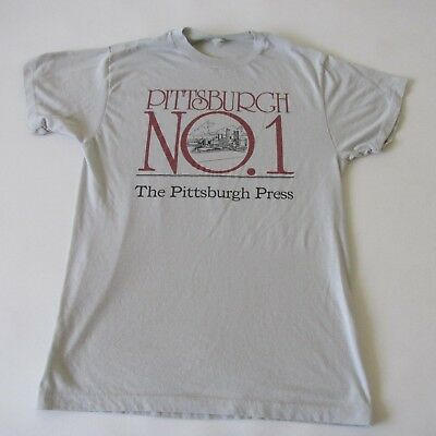 Vintage 80s The Pittsburgh Press Newspaper Men's Unisex T-Shirt Soft Thin