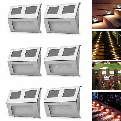 6PCS Security Super Bright Solar Powered LED Outdoor Wall Lights Garden Lighting