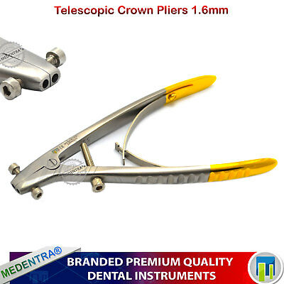 1.6mm Forceps Crown Remover Telescopic Adjusting Pliers Dental Orthodontic Lab
