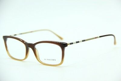 83608a052230 New Burberry B 2243 3369 Brown Eyeglasses Authentic Frames Rx B2243 53-17