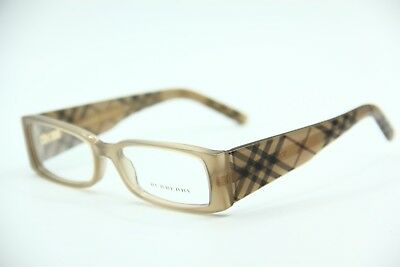 22a9352afa5d New Burberry B 2080 3166 Brown Eyeglasses Authentic Frames Rx B2080 50-16
