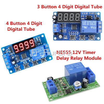 DC12V Trigger Cycle Delay Timer Control Automation Switch Relay Module