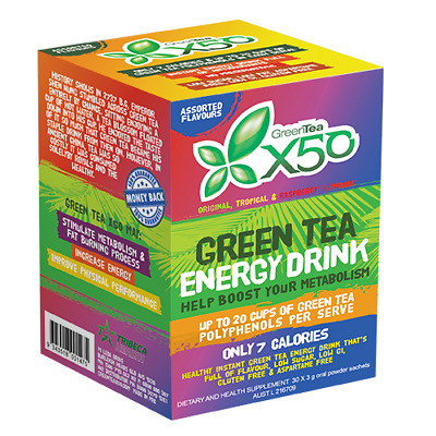 Green Tea X50 - Assorted 30 serve