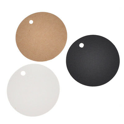 100x 5cm Round Antique Craft Tags Kraft Paper Label Blank Gift Wrapping Supply