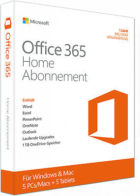 Microsoft Office 365 Home - Neu - Vollversion - PC / Mac - 5 Devices - Download