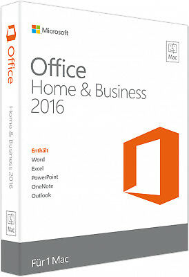 Microsoft Office Home and Business 2016 Mac - Neu - Vollversion Key - Download