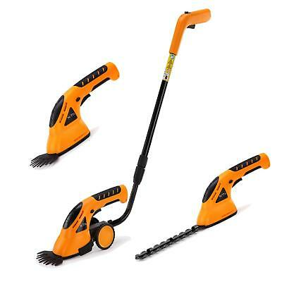NETTA 7.2V Cordless 2 in 1 Lithium-Ion Grass and Hedge Trimmer, Edging and Shrub