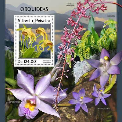 Z08 IMPERF ST18301b Sao Tome and Principe 2018 Orchids MNH ** Postfrisch