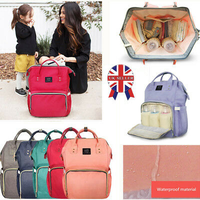 LAND Large Baby Diaper Nappy Backpack Mummy Multifunctional Changing Travel Bag