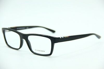 31f5a244fcde New Burberry B 2138 3396 Black Eyeglasses Authentic Frames Rx B2138 55-18