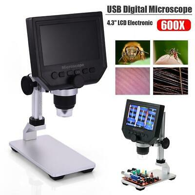 600X 1080p HD LCD Monitor Cam 3.6MP Electronic Digit Video Microscope Magnifier