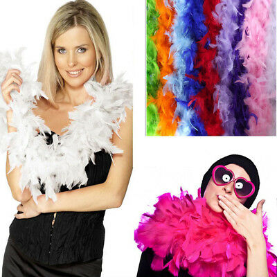 2M Fluffy Feather Boa Scarf Cabaret Costume Dressup Wedding Party Home Decor N