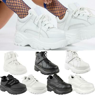 Womens Ladies High Platform Retro Trainers Sneakers Boots Chunky Rock Punk Goth