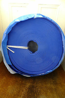 """Blue PVC Layflat Water Discharge Hose for Water Pumps 3"""" x 100 metres"""