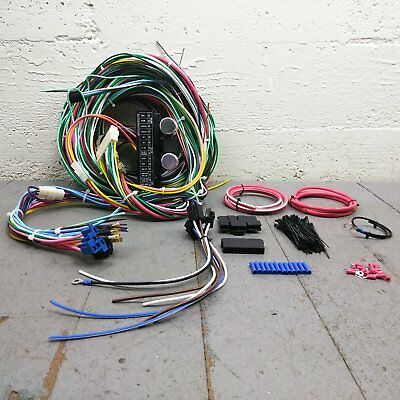 parts & accessories 1960-1970 ford falcon wire harness upgrade kit fits  painless fuse fuse block
