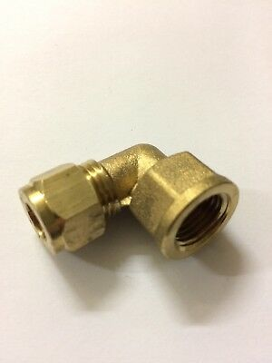 8mm Compression x 1/4 Inch BSP Female Elbow Brass Compression Plumbing Fitting