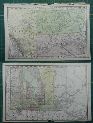Canadian Territories Rand McNally Antique Vintage 1892 World Business Atlas Map