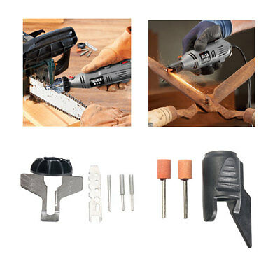 Chain Saw Sharpening Attachment Sharpener Guide with Garden Tool Drill Adapter