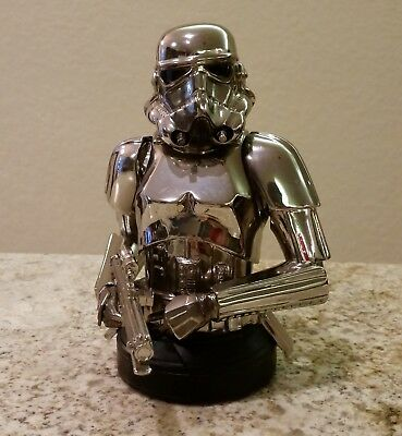 Gentle Giant Star Wars United Kingdom EX Chrome Stormtrooper Mini Bust