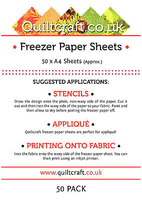 Quiltcraft's Freezer Paper Sheets x 50approx - A4 -SIZE BARGAIN