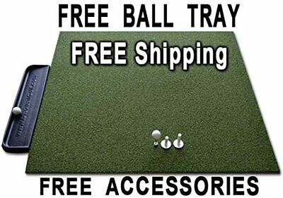 golf tee mat 4 x 5 ft nylon home practice swings trainer thick turf made in USA