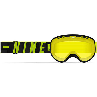 509 YOUTH Child Kids RIPPER Snow Snowmobile GOGGLES- HiVIS/BLACK  w/ Yellow Lens