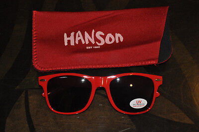 RARE BRAND NEW OFFICIAL Hanson RED Music Made For Humans Sunglasses!
