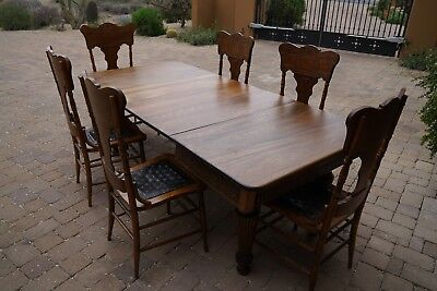 Solid Hardwood Antique Canadian Dining Room Set