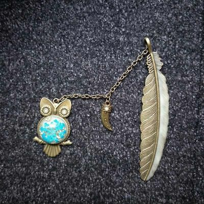 Label Read Stationery Owl Book Feather Mark Night Bookmark 1X Luminous Maker