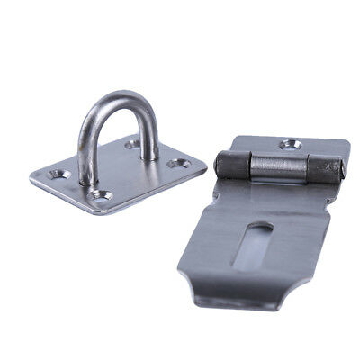 Stainless Steel Wire Hasp Staple Latch Door Gate Latch Shed Security Lock one