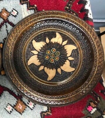 Polish Hand Made Carved Wooden Plate- Poland