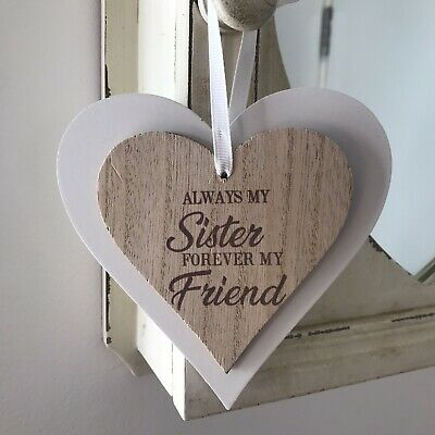 Shabby Chic Antique White Metal Cut Out Heart Hanging Decoration