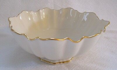 Lenox Scalloped Ivory Bowl/Candy Dish with Gold Trim