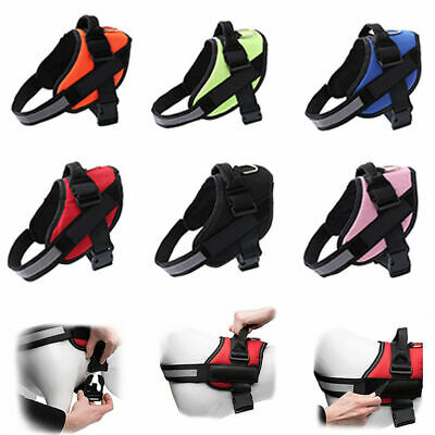 Dog Puppy Harness Collar Lead Adjustable Security Water Resistant Non Pull Vest