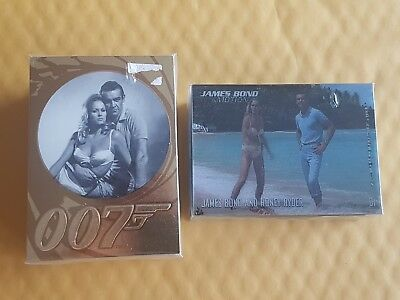 James Bond Trading Card Set Lot of 2 COMPLETE 50th Anniversary and In Motion