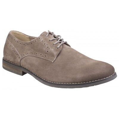 Hush Puppies SEAN CASUAL Mens Lace Up Smart Office Derby Shoes Camel Biege