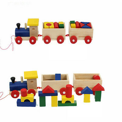 Early Development Geometric Blocks Building Stacking DIY Pull Along Game one