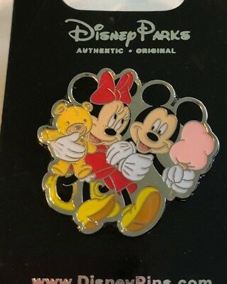 disney trading pin Minnie Mickey Mouse carnival cotton candy vintage characters