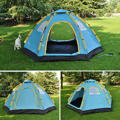 5-8 Man Person Large C&ing Pop Up Tent Hiking Automatic Fast Waterproof Tents & 5-8 MAN PERSON Large Camping Pop Up Tent Hiking Automatic Fast ...