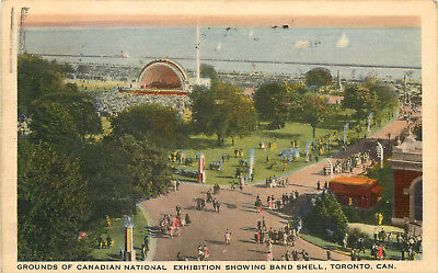 Postcard Grounds of Canadian National Exhibition Band Shell Toronto Canada