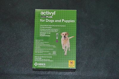 Activyl Tick Plus For Dogs 44 - 88 Lbs, 6 Doses, Flea And Tick Spot-On