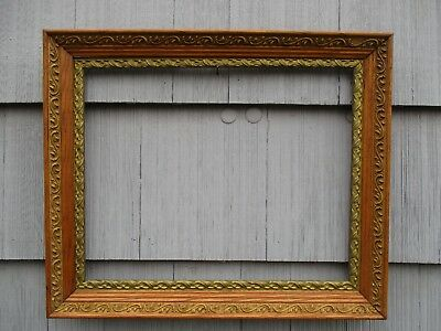 Antique Victorian Oak and Gesso Wood Picture Frame fits 16 x 20