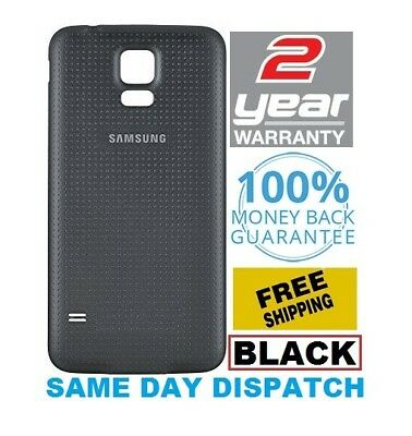 For New Samsung Galaxy S5 Color BLACK Battery Back Door Housing Cover Waterproof
