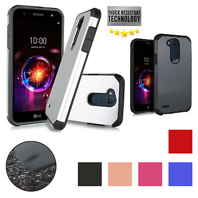 For LG X POWER 3 2018 Defender Case Impact Resist Shockproof Hybrid Bumper Cover