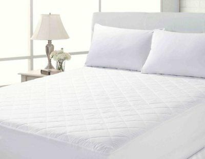 """Quilted Mattress Protector Extra Deep 12"""" Deep Fitted Bed Sheet Cover All Sizes"""