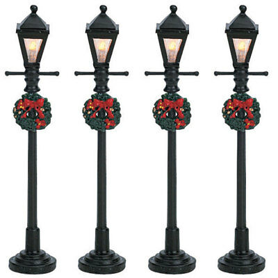 Lemax Christmas Village House Accessories - Gas Lantern Street Lamp (Set Of 4)