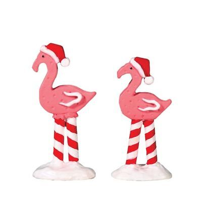 Lemax Christmas Village House Accessories - (2) Pink Flamingos