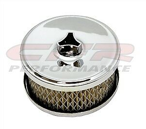 Steel Air Cleaner Open Style Kit for 2-5//8 /& 2-1//16  Chrome