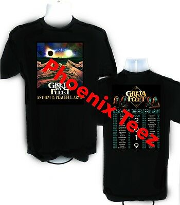 Greta Van Fleet 2019 March of the Peaceful Army t shirt